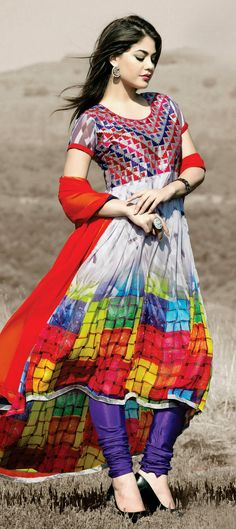 431507: Multicolor color family unstitched Party Wear Salwar Kameez, Printed Salwar Kameez .