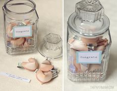 The perfect graduation gift - a fortune cookie cash jar. Fold printable paper fortune cookies with money inside for the graduate!