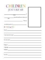 Really cool free printables for children to complete- children like me, state factsheets, famous person notebooking pages, as well as pritnables by country