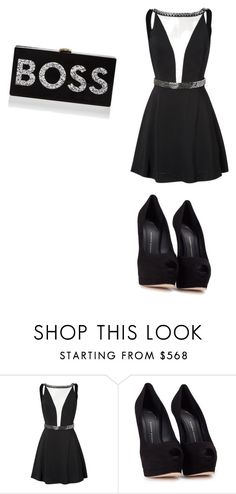 """RED CARPET 🎉👜👙🎉👈🔥😍"" by queenbre101y on Polyvore featuring Giuseppe Zanotti and Milly"