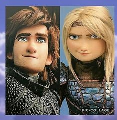 Hiccup and Astrid. HTTYD 3. :)