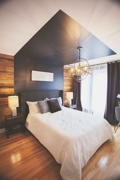 Magnifique chambre principale – Inspiration The Piece Source by siglilja Design Room, Master Bedroom Design, Bedroom Designs, Master Suite, Bedroom Decor Dark, Bedroom Black, Bedroom Modern, Teen Bedroom, Minimalist Bedroom