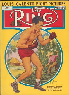 Vintage Boxing Art – Filipino Boxer Bolo Punch on The Ring magazine