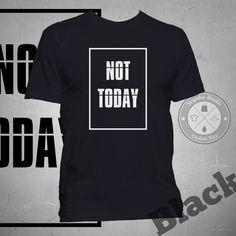 """Jual Tumblr Tee """"Not Today"""" - Yoyaku Shop   Tokopedia"""