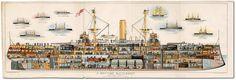 Cross-section of the battleship HMS Royal Sovereign