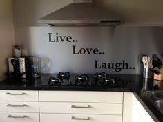 Idee Keuken Achterwand : Hpl laminaat achterwand keuken showroommodellen rigakeukens