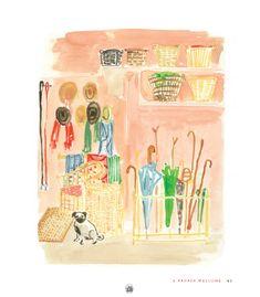 artist Virginia Johnson, note the pug...