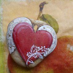 Valentýnské srdce s nápisem na přání...beautiful winged heart!
