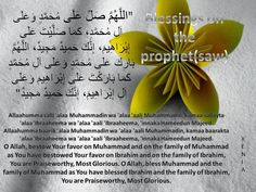 Reminders- Recite blessings on the Prophet (saw)