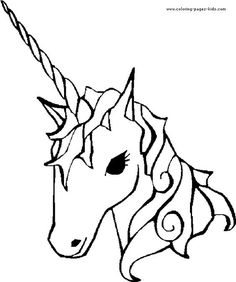 Free Printable Coloring Sheet Unicorn Traceable #angelafineart ...