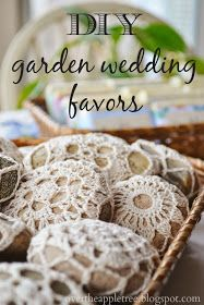 DIY Garden Wedding Favors, Melt and Pour Soap & Crochet River Rocks by Over the Apple Tree Diy Soap Rocks, Crochet Stone, Diy Wedding Favors, Crochet Wedding Favours, Wedding Reception, Diy Garden, Balcony Garden, Garden Paths, Soap Packaging