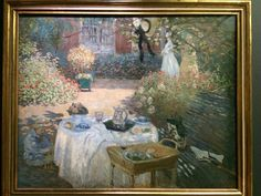 Claude Monet - The Luncheon: Actual painting in Musee d'Orsay, Paris, France.