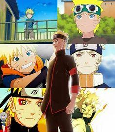 Naruto through the years.