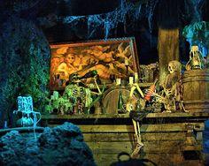 Pirates of the Caribbean ride at Disneyland
