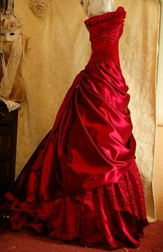 I am thinking of a pattern similar to this, but with a bustle and white...