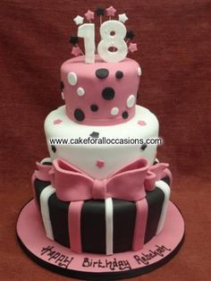 Cake L150 :: Women's Birthday Cakes :: Birthday Cakes :: Cake Library - Cake for all Occasions