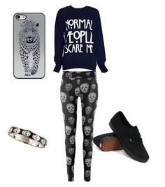 """""""•normal people scare me• *goth outfit*"""" by iidreamcatcherii ❤ liked on Polyvore featuring beauty, Vans, BlissfulCASE and Alexander McQueen"""