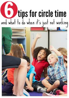 tips for preschool circle time and how to save it when it's just not going well. Great tips for new teachers.