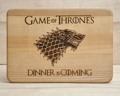 Dinner Is Coming Cutting Board, Boyfriend gift, Game of Thrones Gift for Dad Wooden Cutting Board Pe Game Of Thrones Gifts, Game Of Thrones Fans, Dinner Is Coming, Great Wedding Gifts, Personalized Cutting Board, Personalized Gifts, Handmade Gifts, Etsy Shipping, Boyfriend Gifts