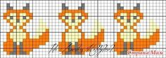 Fox cross stitch.