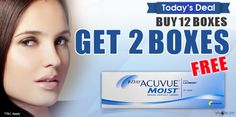 Product Information: 1 Day Acuvue® Moist® will keep your eyes feeling fresh and comfortable from day to night. These great value daily disposable lenses are the only ones with Acuvue®'s exclusive LACREON® technology, which keeps your eyes hydrated all day. With UV Protection and a silky smooth feel, these are the most popular on the market for comfort and convenience. For online shopping Visit :- www.visioncare.co.in Order On Call : +91-124-4415000