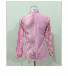 Hello kitty se levantó : 2016 blusa ocasional de la camisa Turn Down Collar Pink camisa a cuadros moda camisas de manga larga camisa de algodón en Blusas y Camisas de Moda y Complementos Mujer en AliExpress.com   Alibaba Group Pink Plaid Shirt, Collar, Alibaba Group, Hello Kitty, Shirt Dress, Mens Tops, Shirts, Clothes, Dresses