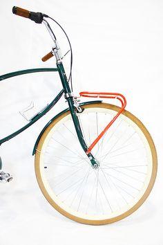 Bicicleta Urbana Maré, estilo retrô / vintage, marca Art Trike, verde agua, masculina, design diferente, bagageiro dianteiro, ncaional.