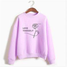 Bts Fake Love Harajuku Kpop Love Yourself Felpe Roupas Sweatshirt Bangtan Boys Hoodies Women Clothing Plus Size Oversize Hoodie Boys Hoodies, Hooded Sweatshirts, Blusas Do Bts, Classic Fashion Looks, Kpop Shirts, Oversized Long Sleeve Shirt, Purple Outfits, Dance Outfits, Shirt Style