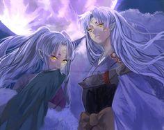 "Sesshoumaru and his mother ""Inu Kimi"" - InuYasha fanart by: Arina-Hime"