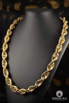 Rope// 4.5mm Glitzs Jewels Premium Stainless Steel Chain Necklace Jewelry for Men and Women