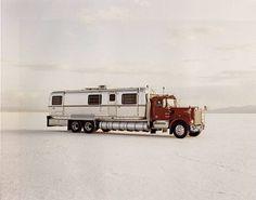 artnet Galleries: World's Fastest Mobile Home mph), Bonneville Salt Flats by Richard Misrach from Fraenkel Gallery Airstream Motorhome, Rv Motorhomes, Off Road Camper, Truck Camper, Cool Trucks, Big Trucks, Semi Trucks, Richard Misrach, Vintage Rv