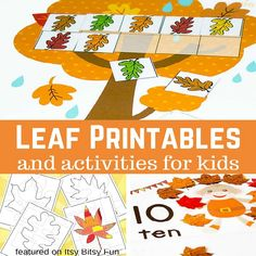 Leaf Printables and Activities for Kids