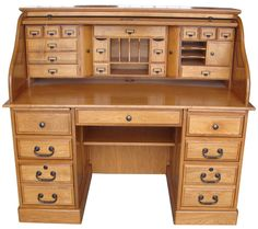 Country Marketplace - 54'' Deluxe Executive  Roll Top Desk, $1,599.99 (http://www.countrymarketplaces.com/54-deluxe-executive-roll-top-desk/)