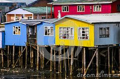Photo about Typical architecture stilts in Castro, Big Island of Chiloe. Image of traditional, housing, america - 32534607 Miniature Rooms, Big Island, Shed, Outdoor Structures, Cabin, House Styles, Stencil, Image, Globe