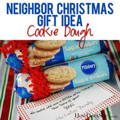 "Inexpensive Christmas Gift Ideas - Happy Home Fairy tag reads: ""we could all use a little extra ""dough"" this time of Year"". Neighbor Christmas Gifts, Inexpensive Christmas Gifts, Neighbor Gifts, Inexpensive Gift, Christmas Treats, All Things Christmas, Holiday Fun, Holiday Gifts, Christmas Holidays"