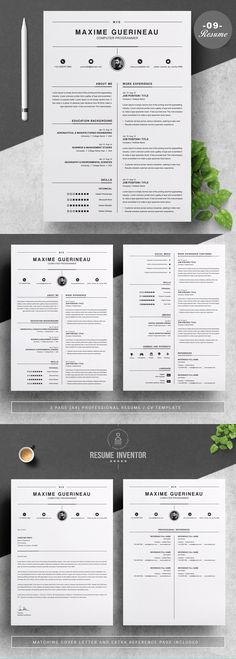 Timeline Style Resume Template