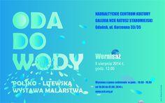 """Plakat towarzyszący wystawie """"Oda do Wody"""".   Więcej informacji o wystawie: http://tiny.pl/qsnnb"""