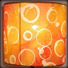 lamp shade..orange transparent