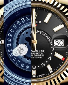 Trendy Watches, Elegant Watches, Watches For Men, Sky Dweller, Watch Photo, Watch This Space, Oyster Perpetual, Pizza, Light Reflection