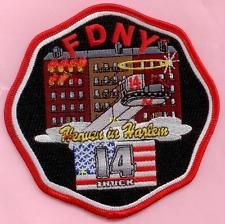 New York City Fire Dept Ladder 14 Patch - Heavn in Harlem
