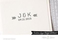 Premade Wedding Monogram Logo Save the Date by MadameLevasseur