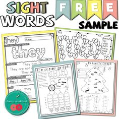 Sight word free practice pages Sight Word Spelling, Sight Words, Spelling Games, Fun Classroom Activities, Learning Activities, Abc Learning, English Activities, Autism Classroom, Teaching Ideas