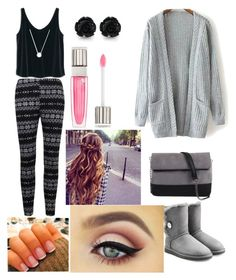 """""""thanks giving outfit"""" by aero1blue on Polyvore featuring MANGO, UGG Australia, Michael Kors, 7 Chi and Lancôme"""