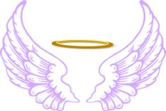 Angel Halo With Wings Clip Art