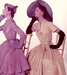 By John Rawlings ,1951 models Bettina Graziani and Sophie Malgat