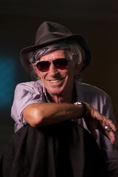 Keith Richards - The Rolling Stones  One of the few photos he's not smoking something!