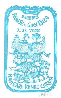 Ex libris by Mariaelisa Leboroni