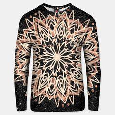 Metallic Mandala   Cotton Sweater Black Marble Background, Cotton Sweater, Mandala, Metallic, Live, Stylish, Sweaters, Sweater, Mandalas