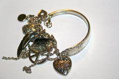 NEW ARRIVAL Spoon charm bracelet  love peace wing by GENICE