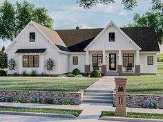 050H-0323: Ranch House Plan with Bonus Room